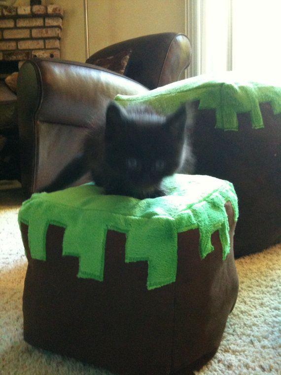 Minecraft Pet Bed : minecraft, Kitty, Black, Minecraft