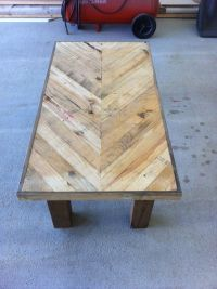 Chevron pallet board coffee table | Pallet Luv | Pinterest ...