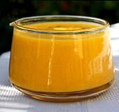 Mango Sauce/Dip…Use it as a dip for cooked shrimp (great with coconut shrimp!), calamari, spring rolls or fresh rolls, or
