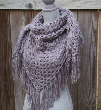25+ best ideas about Crochet triangle scarf on Pinterest ...