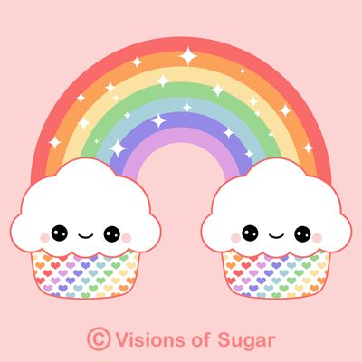 1000 cartoon cupcakes