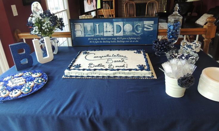 Butler University Bound graduation party cake and