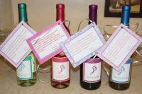 Baby shower hostess gift -barefoot wine with a cute little ...
