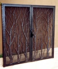 1000+ ideas about Fireplace Screens With Doors on