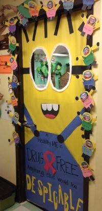 Adorable Red Ribbon Week Door Decor from a teacher friend ...