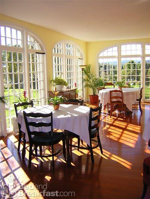 Stunning sunfilled breakfast room in warmer months  Bed  Breakfast Ideas  Pinterest  Sun