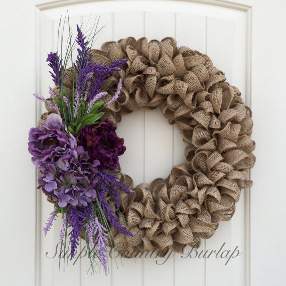 Best 25 Burlap wreaths ideas on Pinterest  Burlap wreath