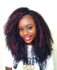 Crochet Braids with Bohemian from Freetress in color 1B ...