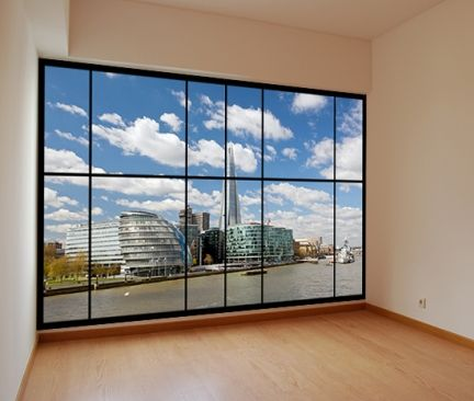 Description: Peel & stick apartment style window mural