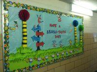 My Dr. Seuss bulletin board. Kids walked by all day in ...