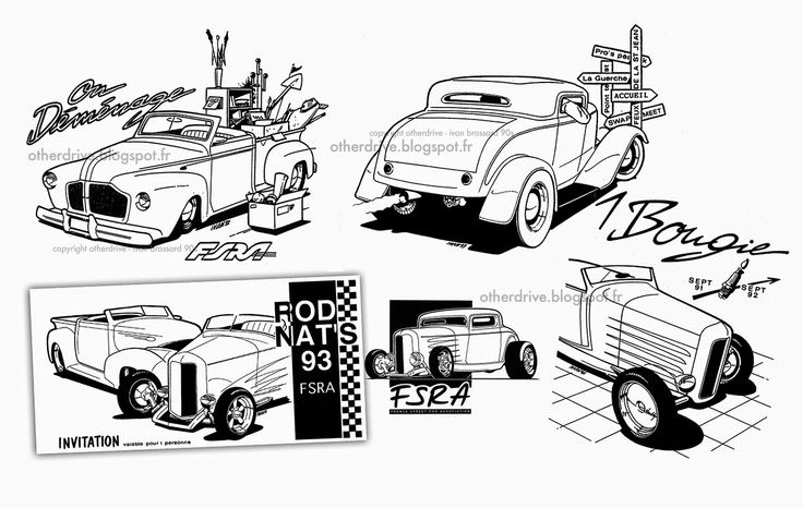 603 best images about ivan Brossard (cars illustrations