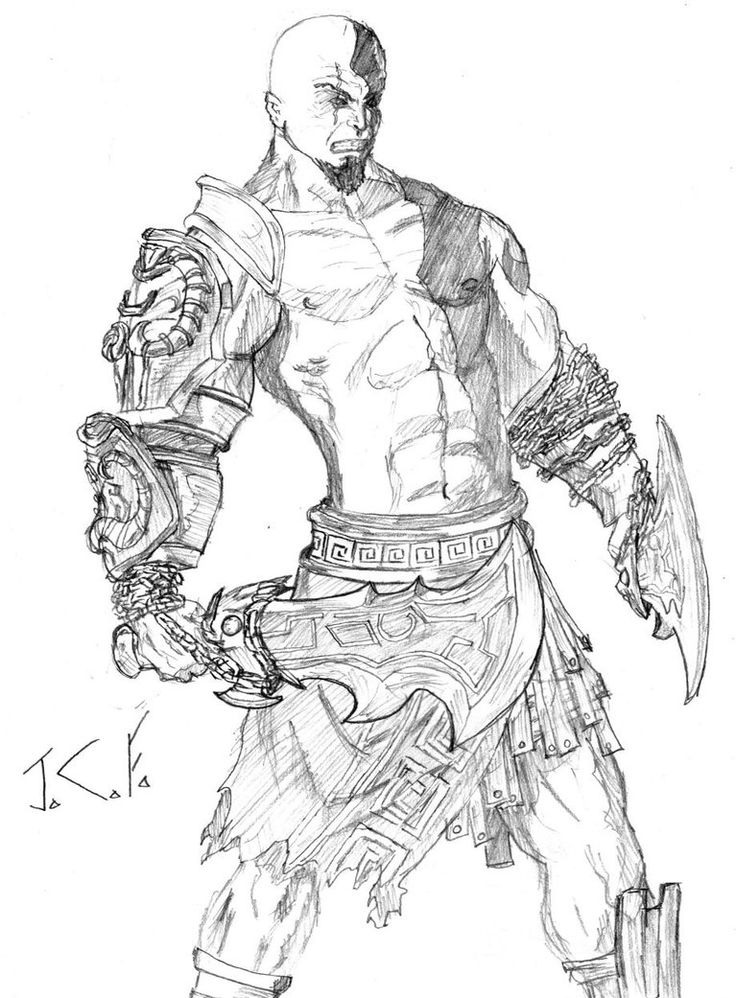 download free kratos God Of War Coloring Pages for kids
