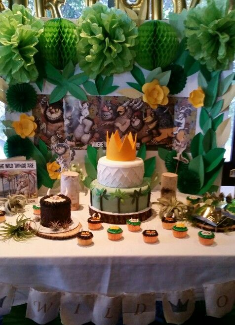 Where the Wild Things Are Cake Cupcakes and Smash