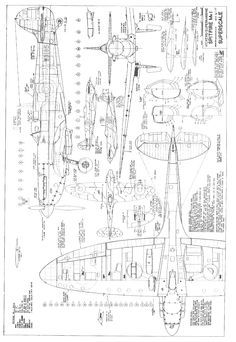 841 best images about Aircraft 3-view Scale Drawings on