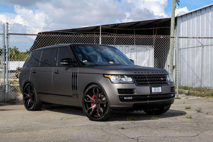 Matte Grey Range Rover L405 Gets Black Forgiato Wheels (1