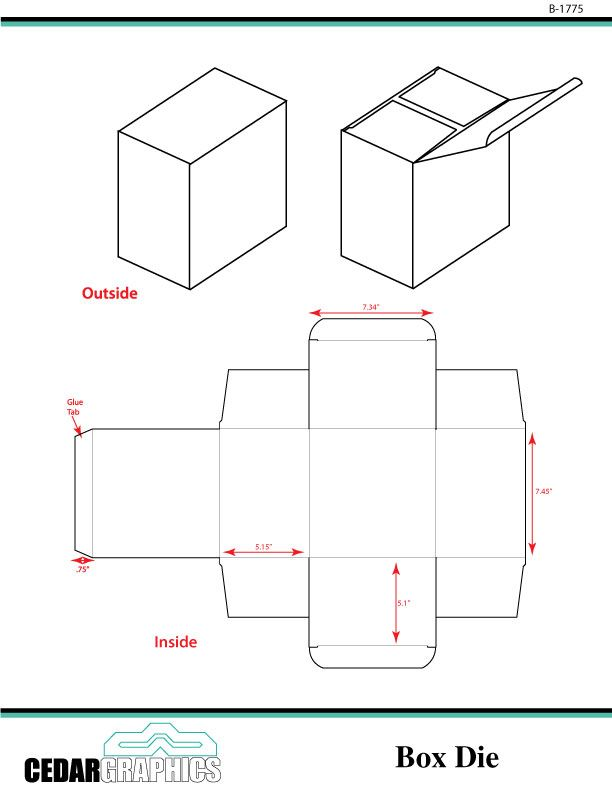 Adobe Illustrator and InDesign Templates for a Small Box