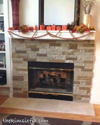 Airstone Stacked Stone Fireplace Update | Stone fireplaces ...
