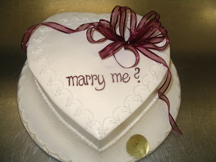 Will You Marry Me? Proposal Cake! Such A Good Idea! 9