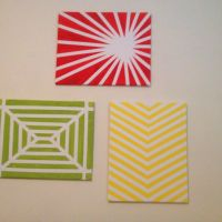 Easy wall art with just canvas, masking tape and paint ...