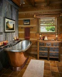 25+ best ideas about Log Home Bathrooms on Pinterest | Log ...