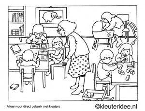 150 best Kleurplaten kleuters / Coloringpages preschool
