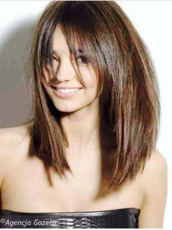 Bangs and a long layered bob  Hairstyles  Pinterest