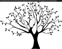 Tree silhouette for wall   Tree templates   Pinterest ...
