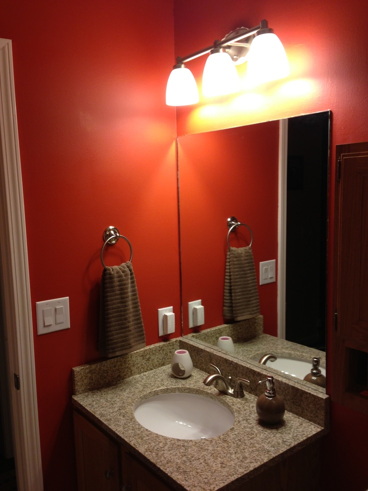 Paint Valspar Crimson Glow Granite countertop