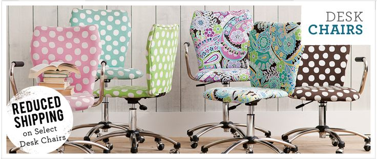 Girly Desk Chairs for dorm or college apt  or anywhere