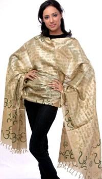 Gayatri Mantra Silk Prayer Shawl   prayer shawls ...