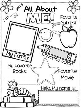 118 best All About Me Preschool Theme images on Pinterest