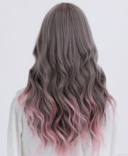 ash brown with pale pink ombre