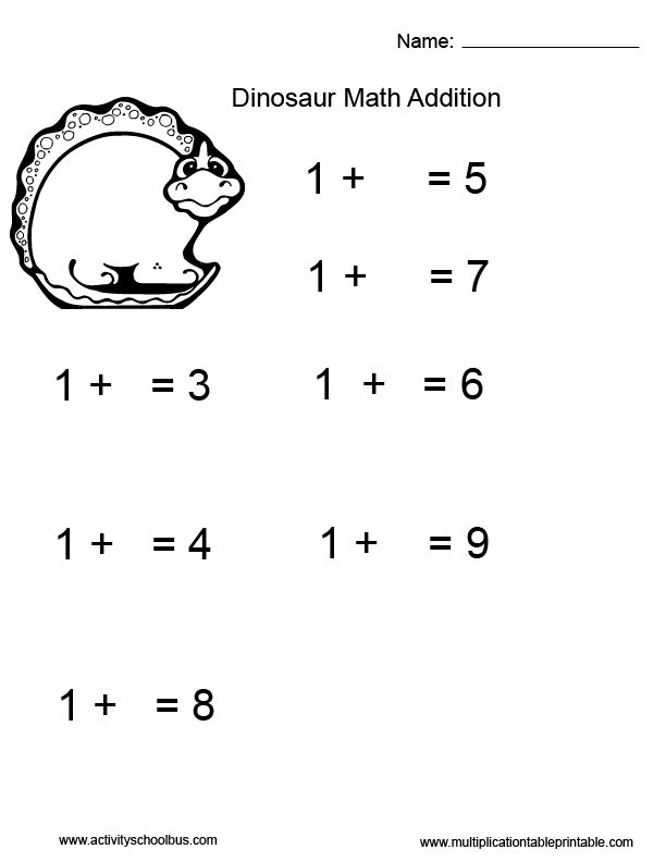 First grade math addition worksheet for kids with