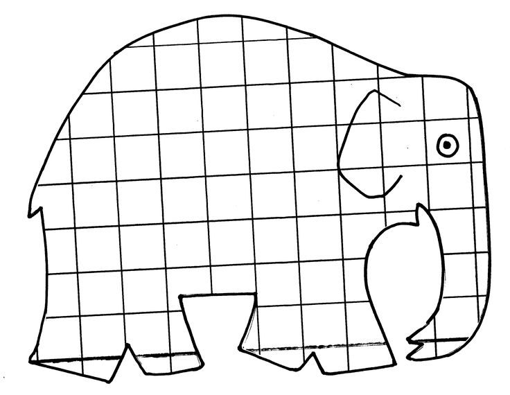 Elmer Coloring Page Elmer The Elephant Coloring Page