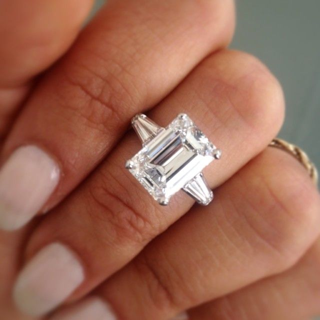5 Carat Emerald Cut Engagement Ring  Ours  Pinterest  Engagement rings Emeralds and Emerald