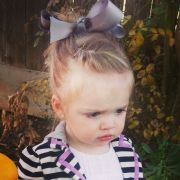 toddler hair front twist messy