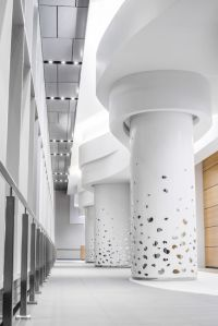 Custom corian column surrounds engineered, fabricated and ...
