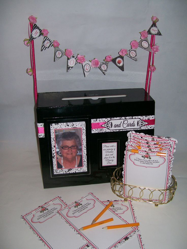 80th Birthday Party cards  memory box  80th birthday ideas  Pinterest  Boxes Birthdays and