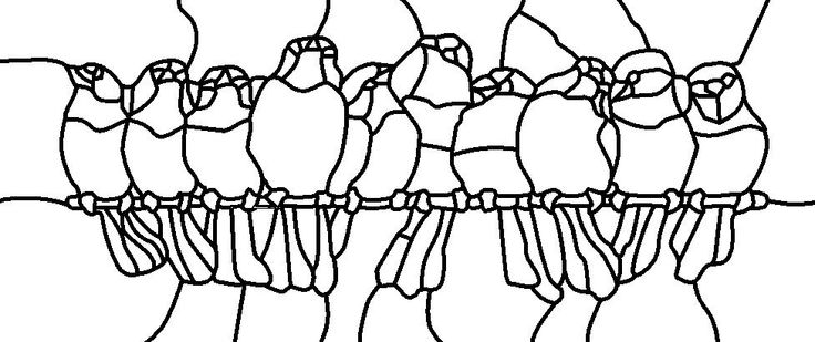 Birds on a wire (outline) Pattern taken from a pattern I