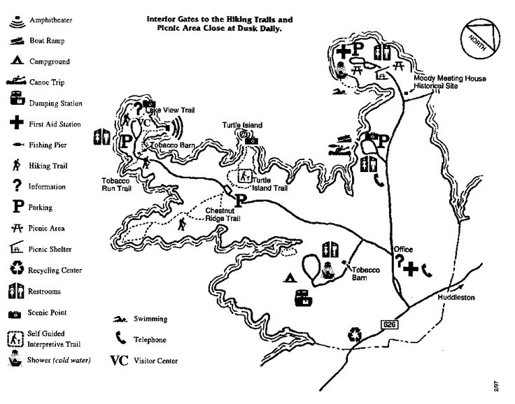 Click for Large Map, Smith Mountain Lake State Park