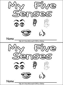 Five Senses Emergent Reader for Kindergarten- Science
