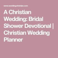 Wedding Shower Devotional Ideas  Mini Bridal