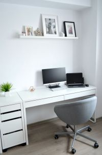 Living room - Home office - IKEA desks - Micke - picture ...