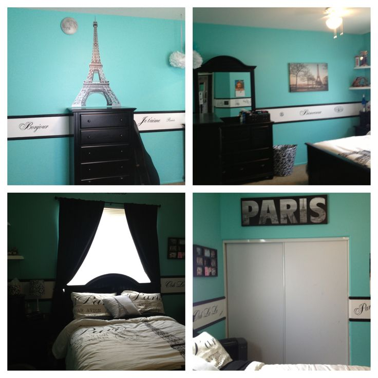 Paris Theme And Tiffany Blue Bedroom Bedroom Ideas