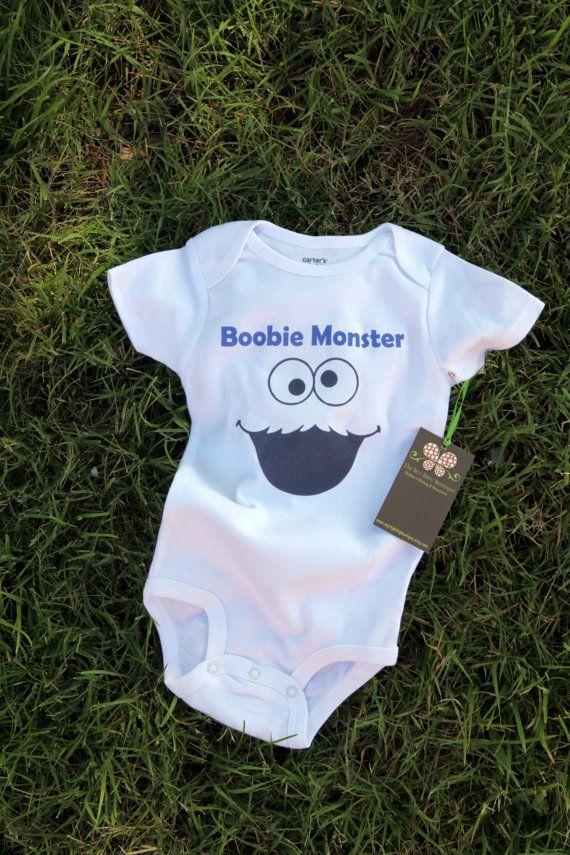 Boobie Monster  Funny Baby