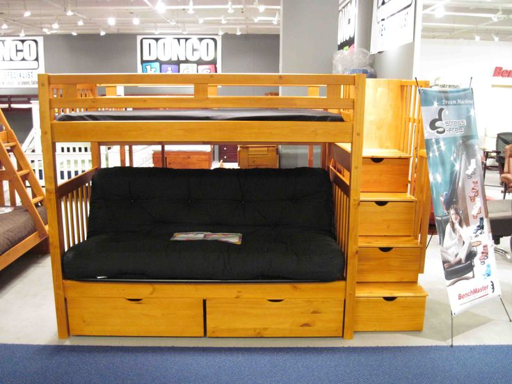 Loft Bed With Futon And Desk  futon bunk beds twin over