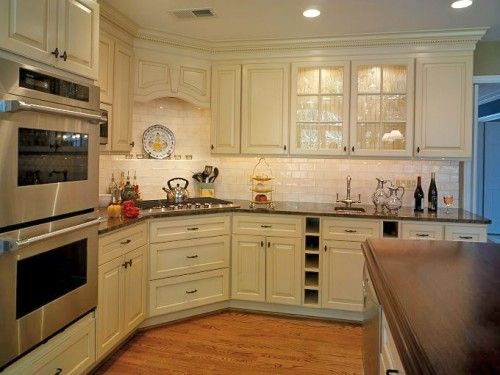 cabinet ideas for kitchens kitchen handles and knobs notice the corner stove top - i would have a peninsula ...