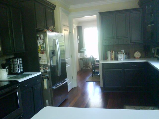 kitchen cabinets are Sherwin Williams Iron Ore SW7069