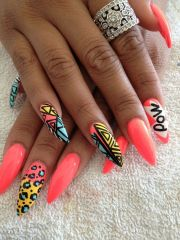 love crazy nail design #nail #nails