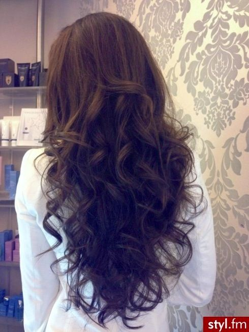 Big Loose Romantic Curls Dark Chocolate Brown Hair